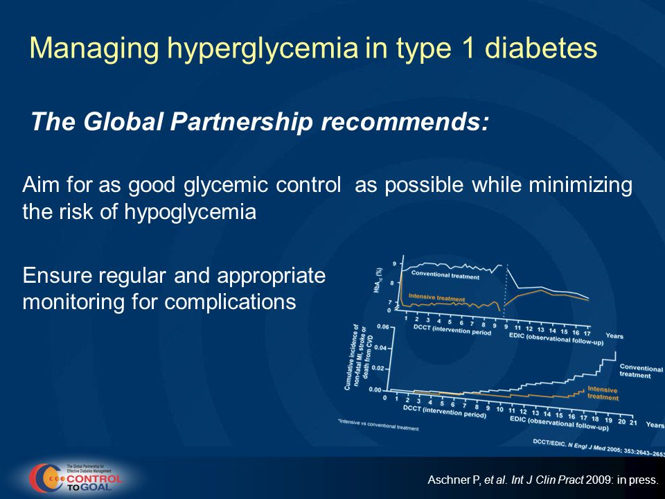 Managing hyperglycemia in type 1 diabetes