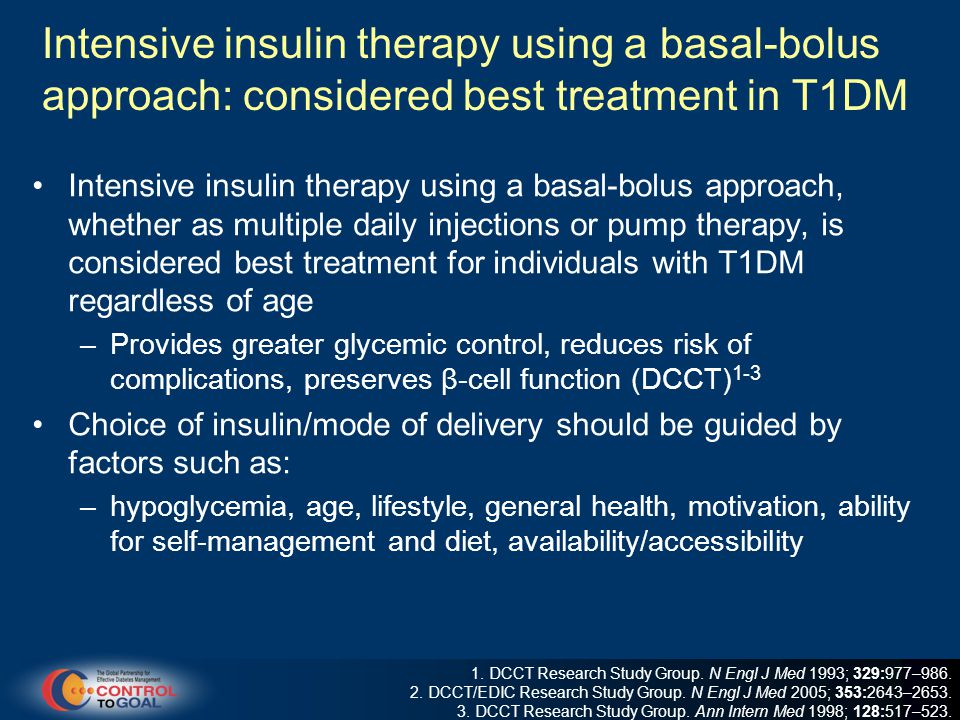 Intensive insulin therapy using a basal-bolus approach: considered best treatment in T1DM