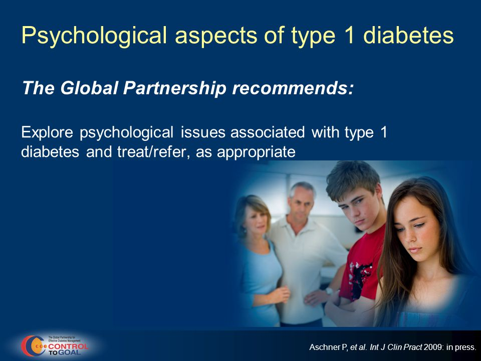 Psychological aspects of type 1 diabetes