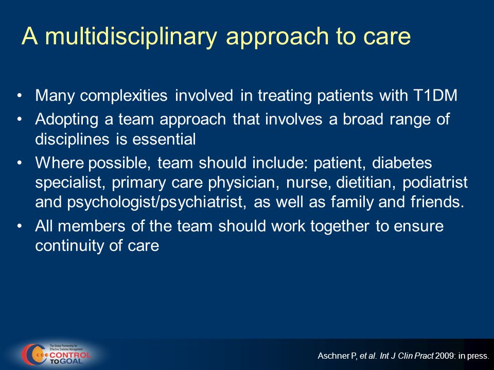 A multidisciplinary approach to care