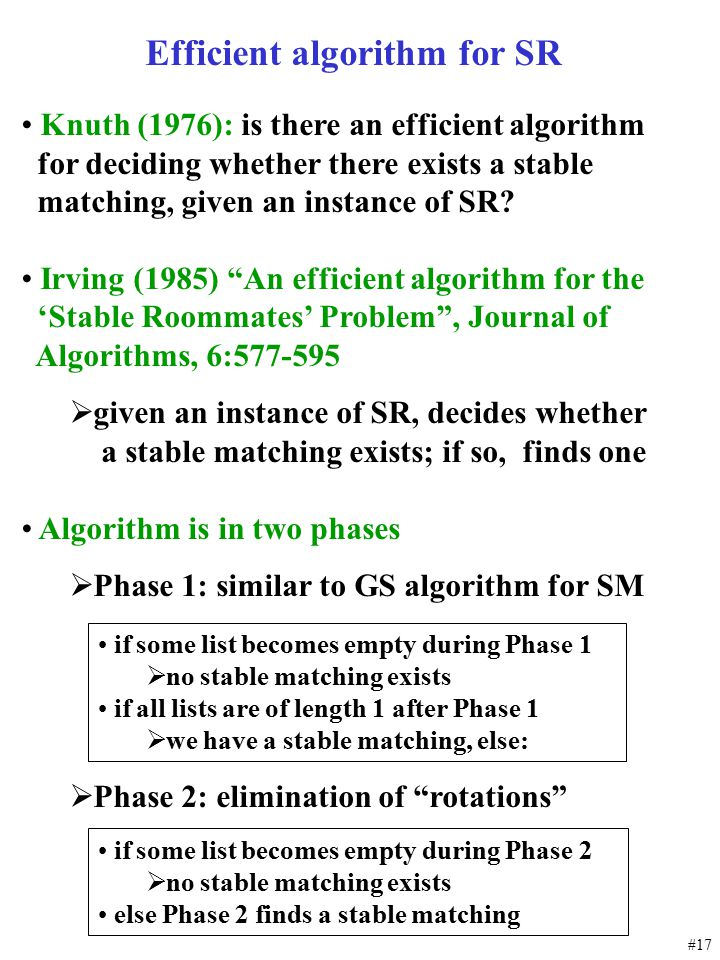 Efficient algorithm for SR