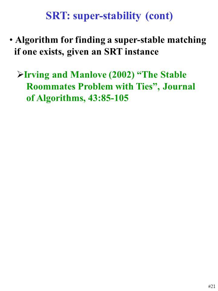 SRT: super-stability (cont)