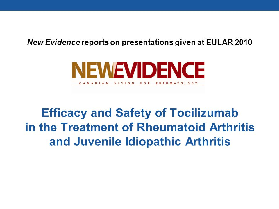 Efficacy and Safety of Tocilizumab