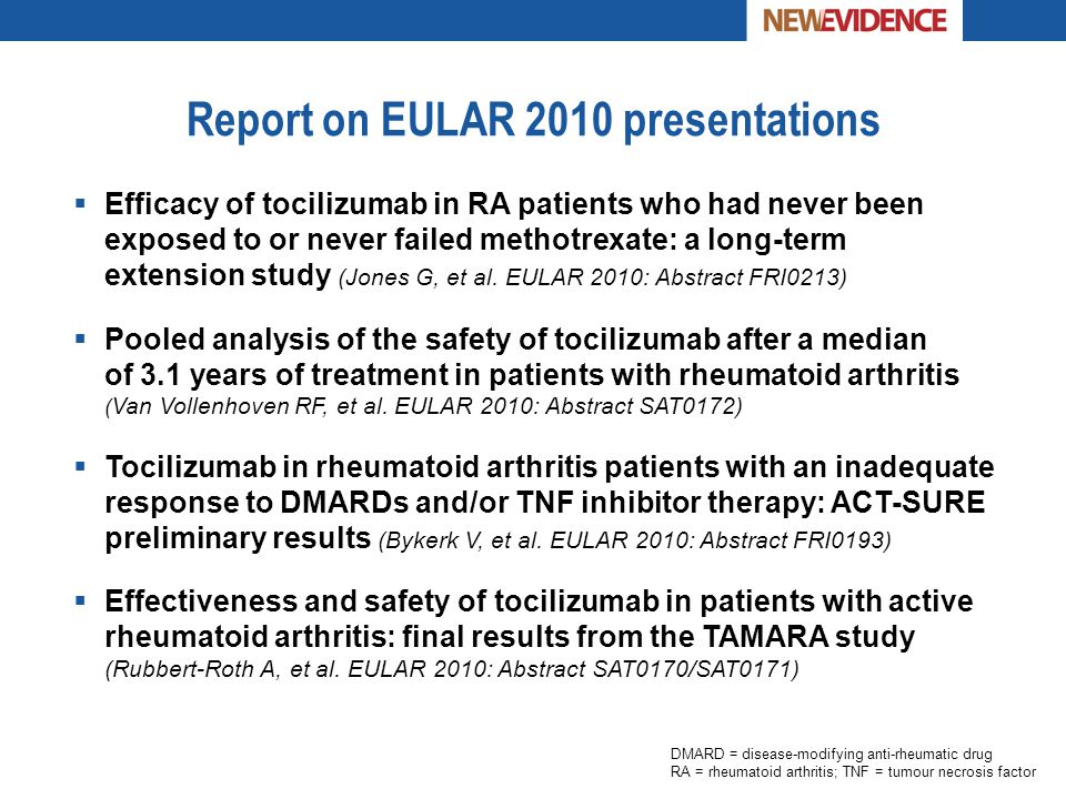 Report on EULAR 2010 presentations