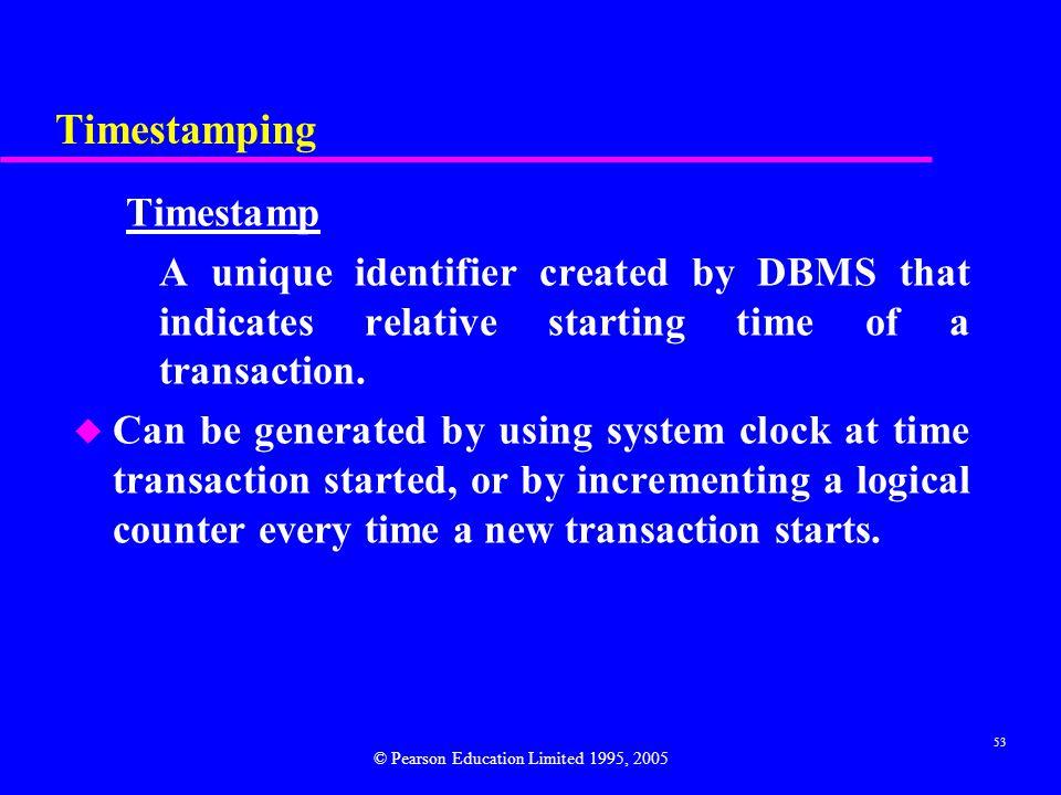 Timestamping Timestamp