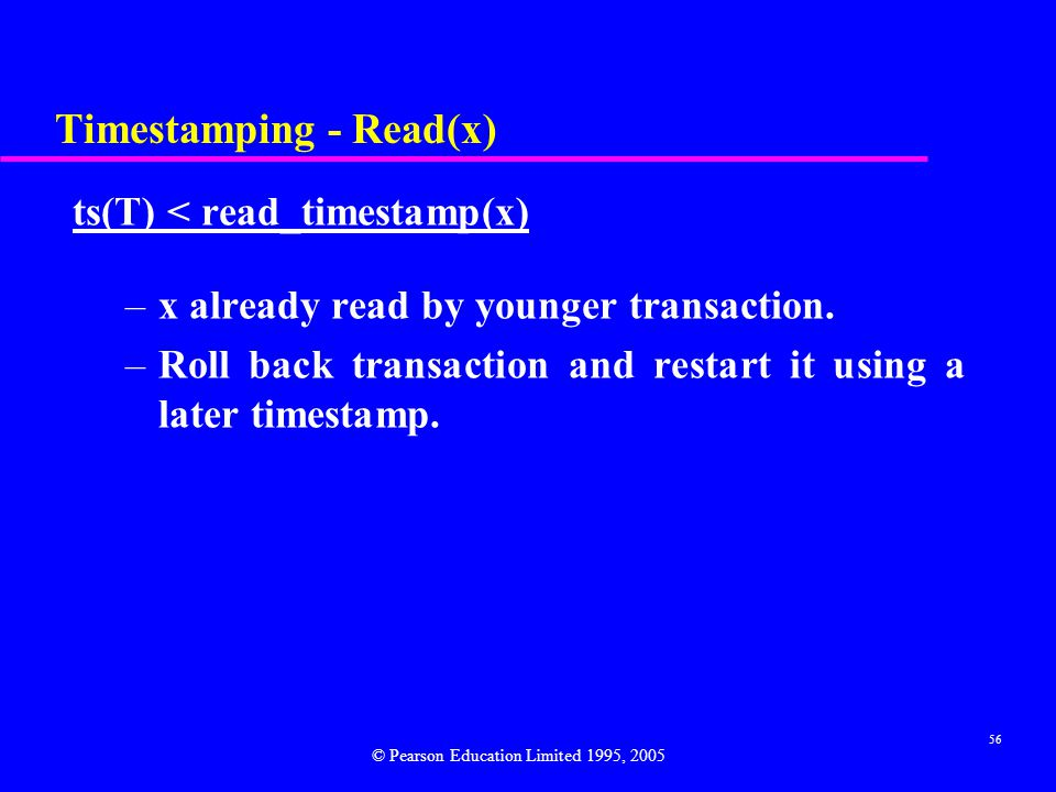Timestamping - Read(x)