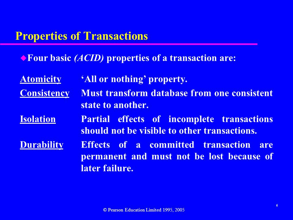 Properties of Transactions