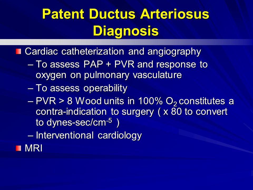 Patent Ductus Arteriosus Diagnosis