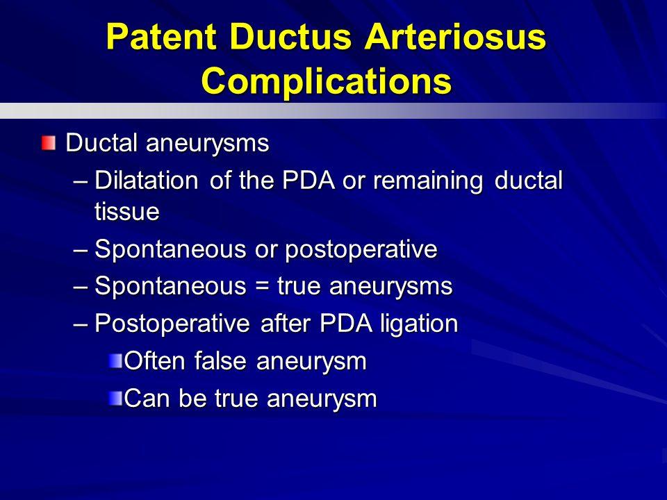 Patent Ductus Arteriosus Complications
