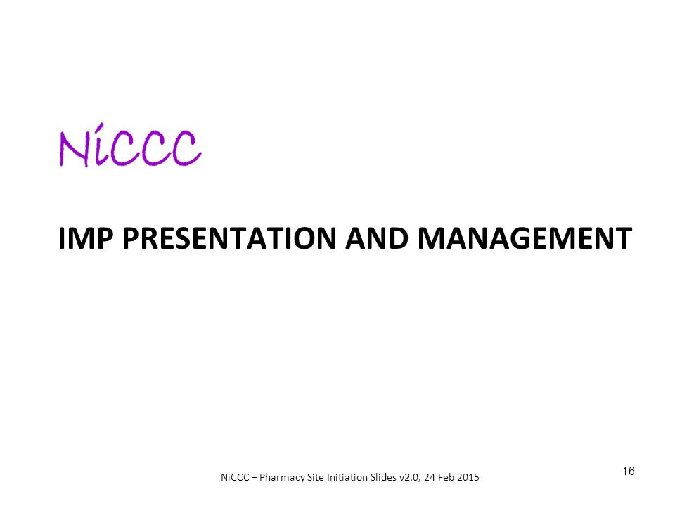 IMP Presentation and management