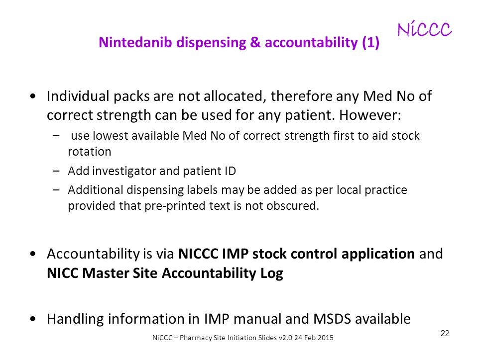 Nintedanib dispensing & accountability (1)