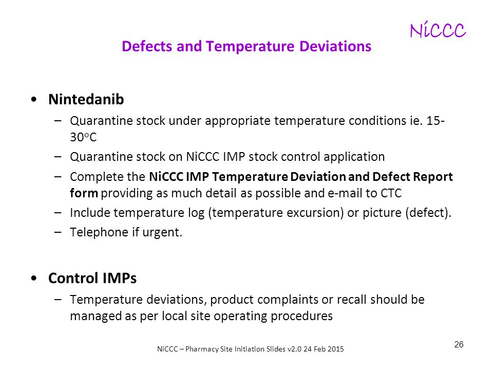 Defects and Temperature Deviations