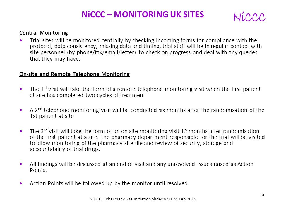 NiCCC – MONITORING UK SITES