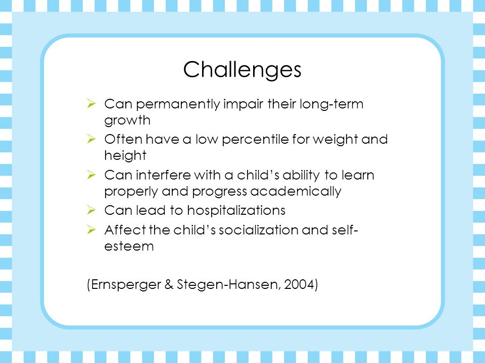 Challenges Can permanently impair their long-term growth