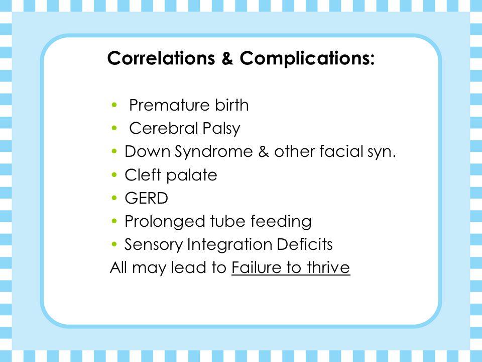 Correlations & Complications: