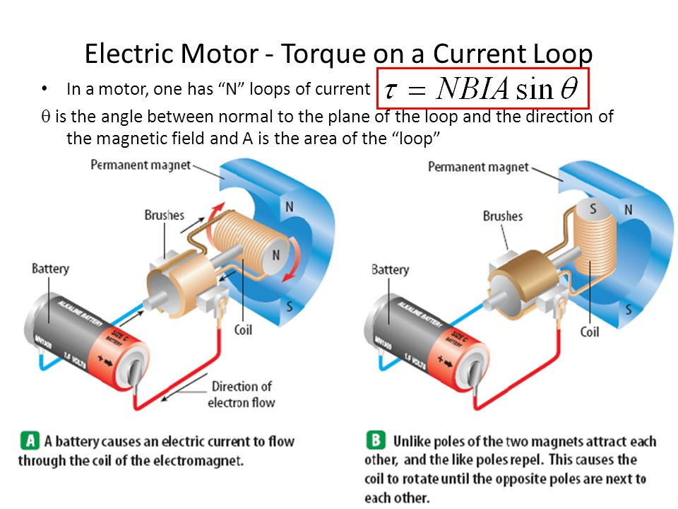 Electric Motor - Torque on a Current Loop