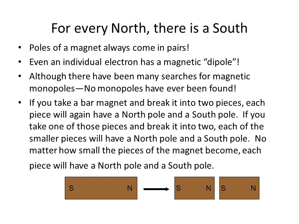 For every North, there is a South
