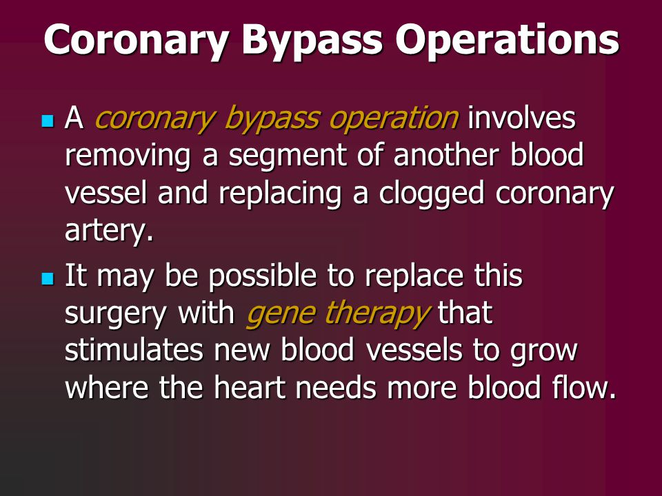 Coronary Bypass Operations