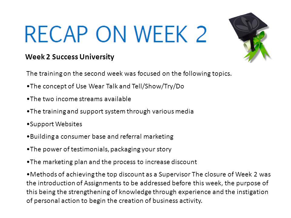 Week 2 Success University