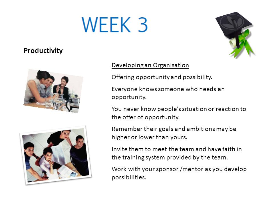 Productivity Developing an Organisation