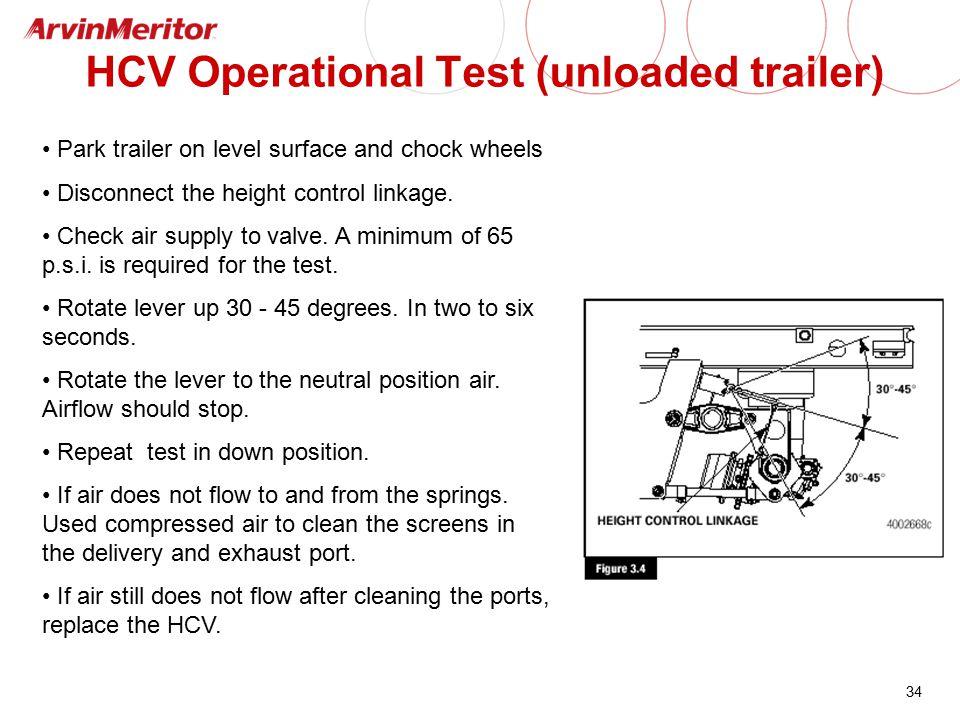HCV Operational Test (unloaded trailer)
