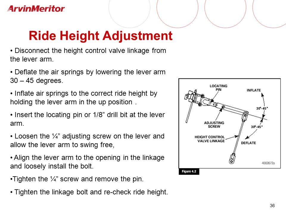 Ride Height Adjustment