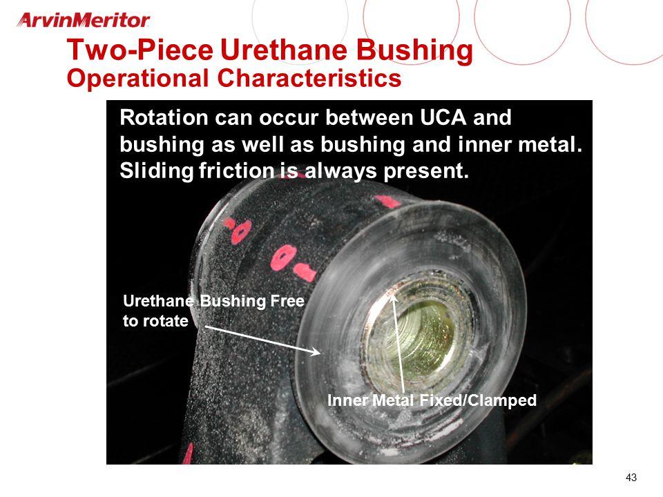 Two-Piece Urethane Bushing Operational Characteristics