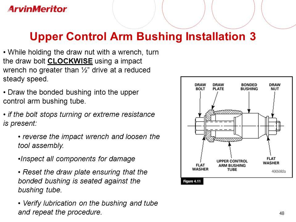 Upper Control Arm Bushing Installation 3
