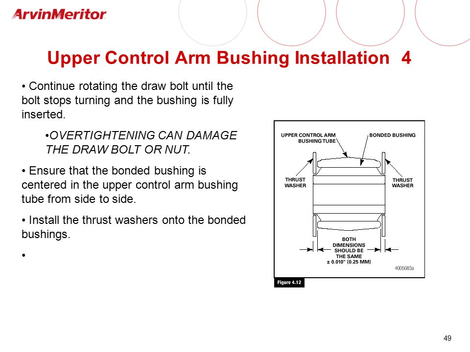 Upper Control Arm Bushing Installation 4