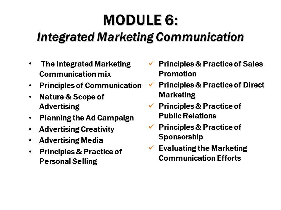 MODULE 6: Integrated Marketing Communication