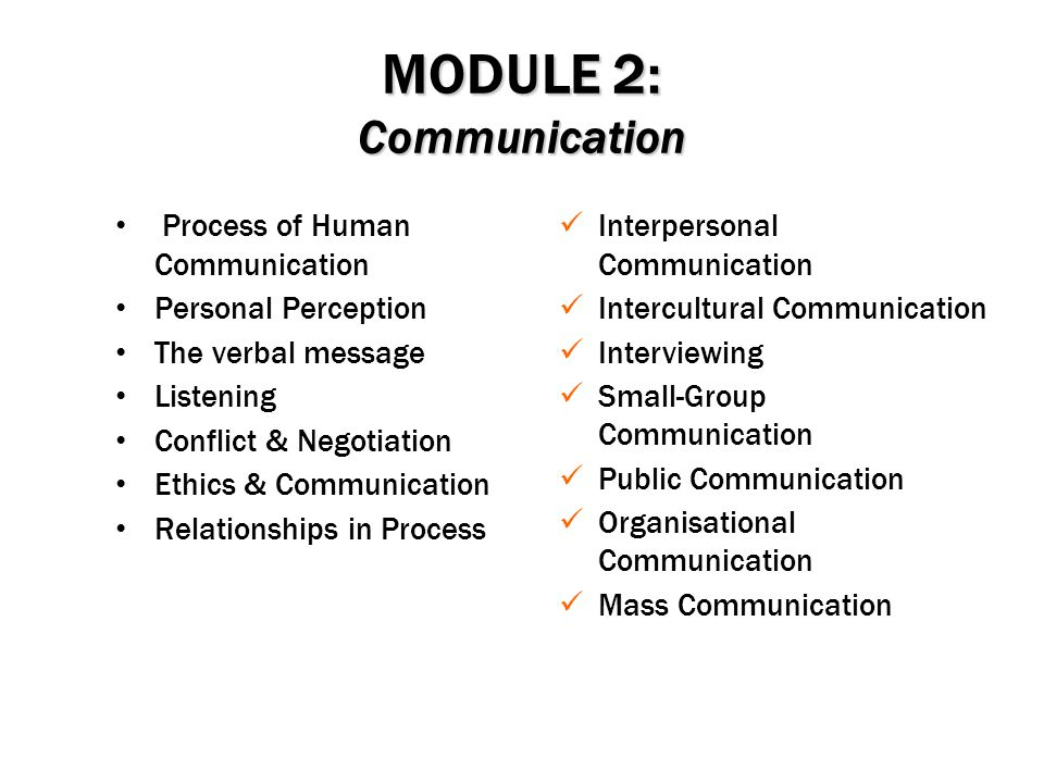 MODULE 2: Communication