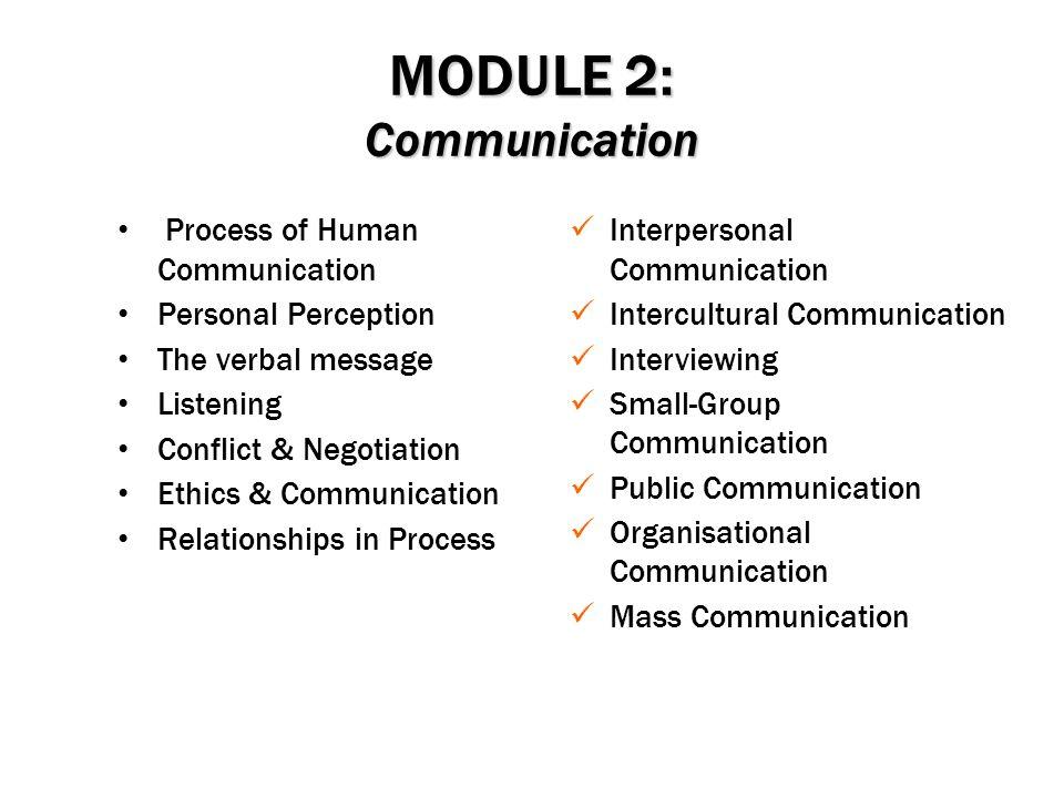 MODULE 2: Communication