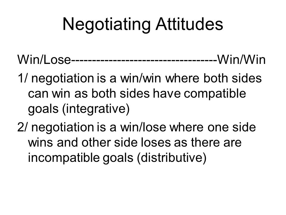 Negotiating Attitudes