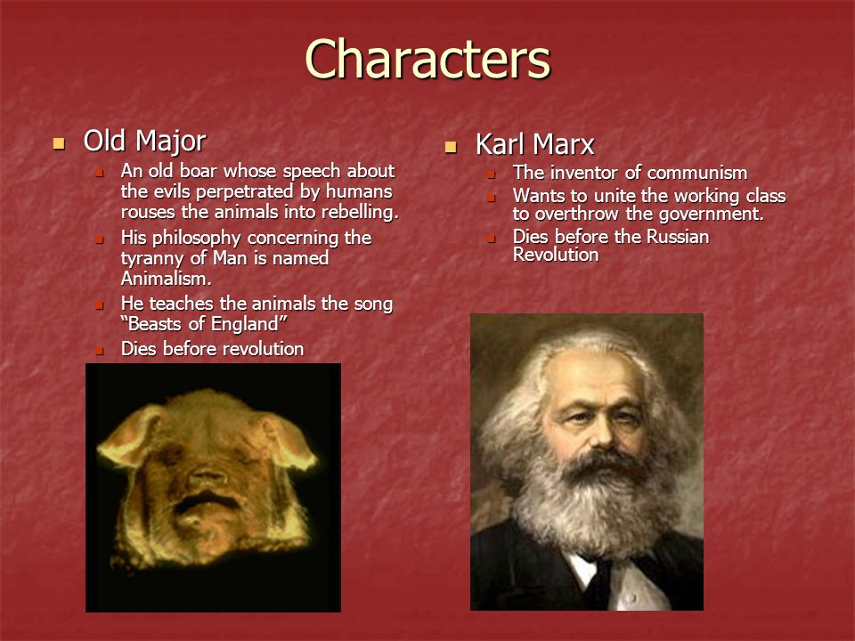 Characters Old Major Karl Marx