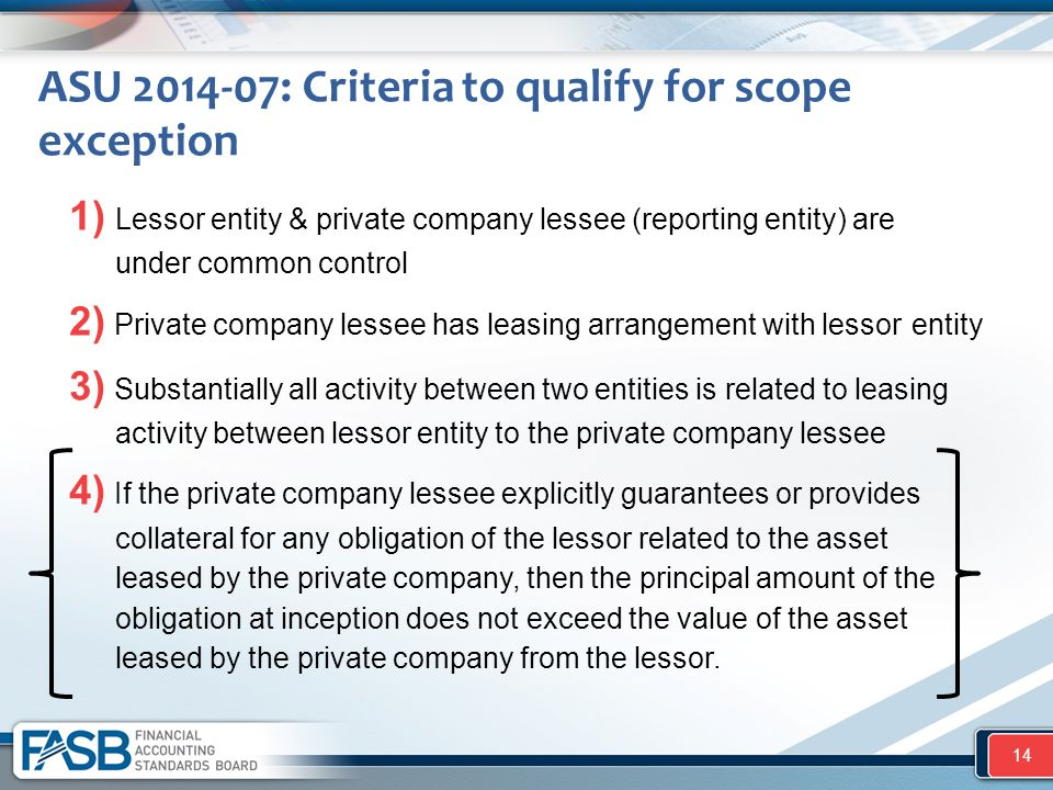 ASU 2014-07: Criteria to qualify for scope exception