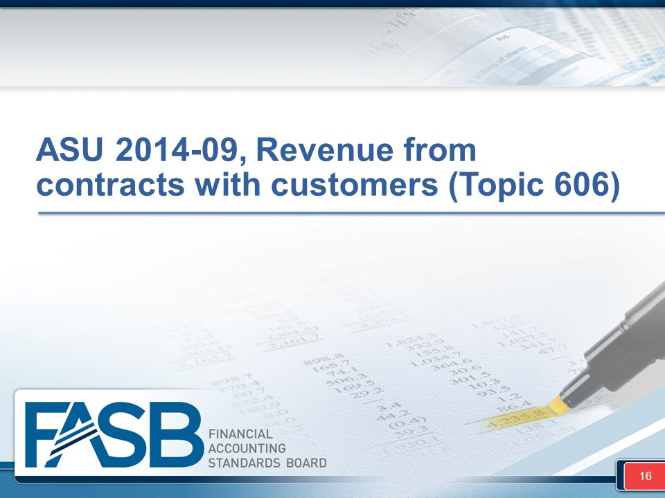 ASU 2014-09, Revenue from contracts with customers (Topic 606)