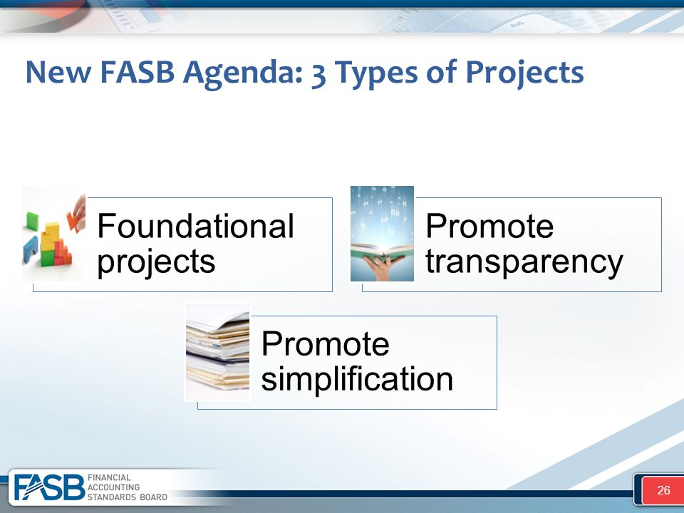 New FASB Agenda: 3 Types of Projects