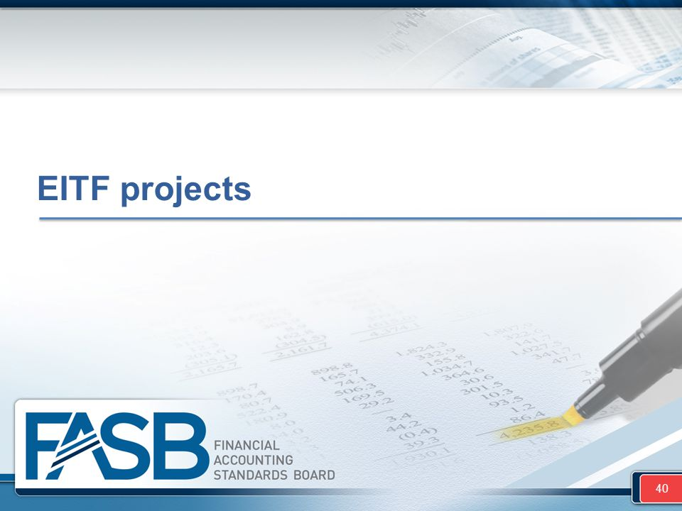 EITF projects