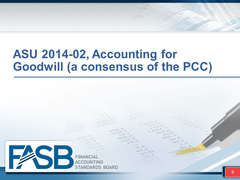 ASU 2014-02, Accounting for Goodwill (a consensus of the PCC)