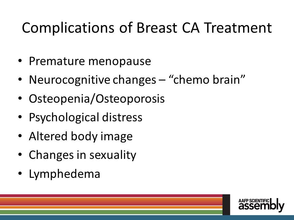 Complications of Breast CA Treatment