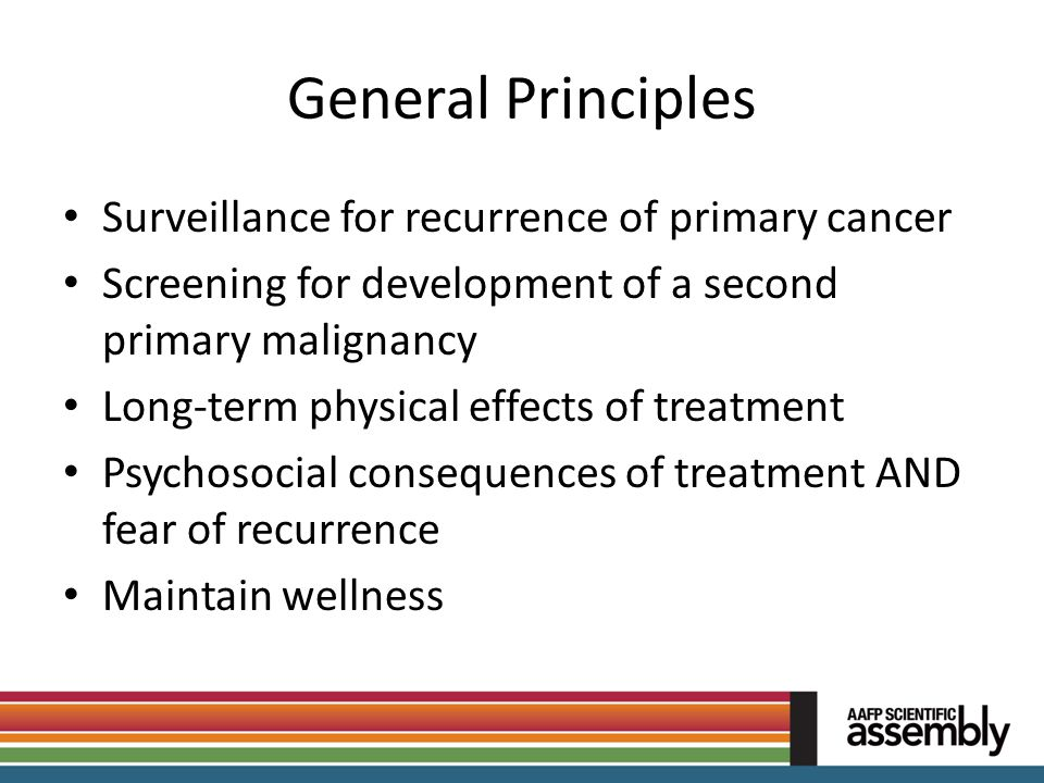General Principles Surveillance for recurrence of primary cancer