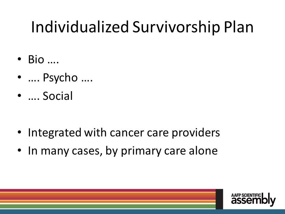 Individualized Survivorship Plan