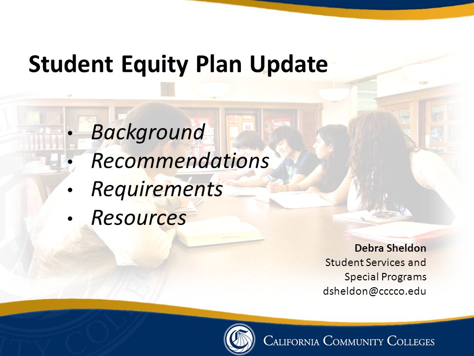 Student Equity Plan Update