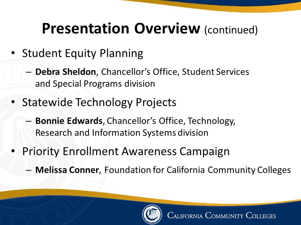 Presentation Overview (continued)