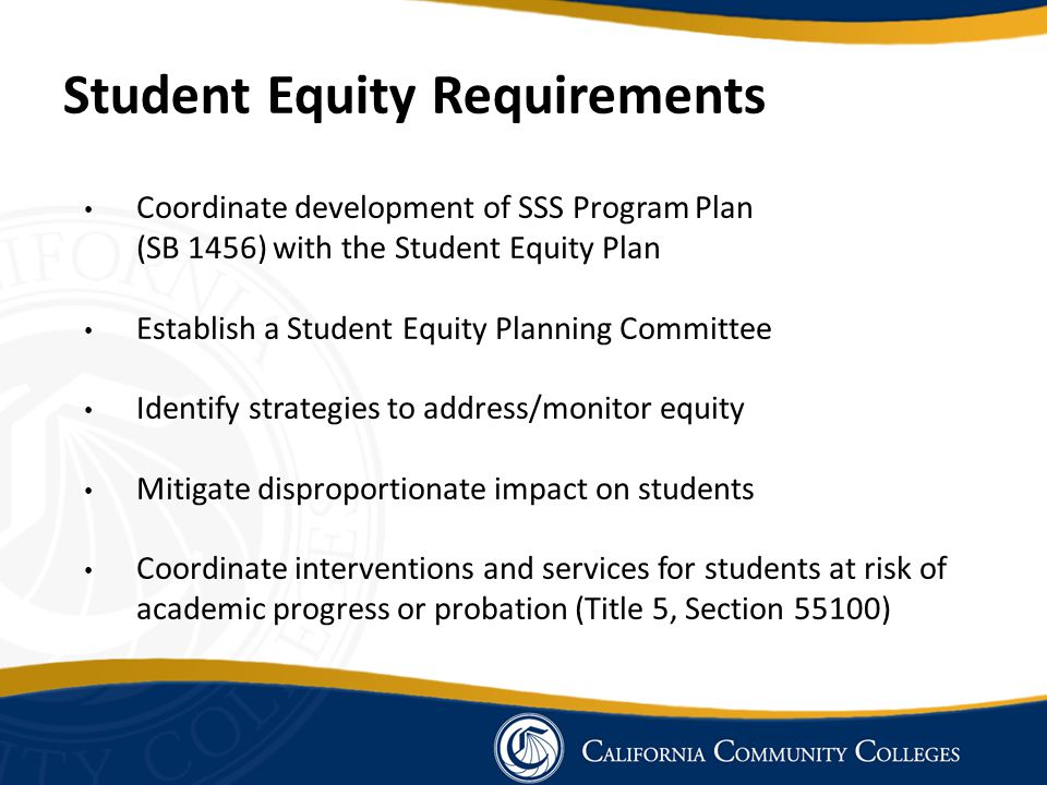 Student Equity Requirements