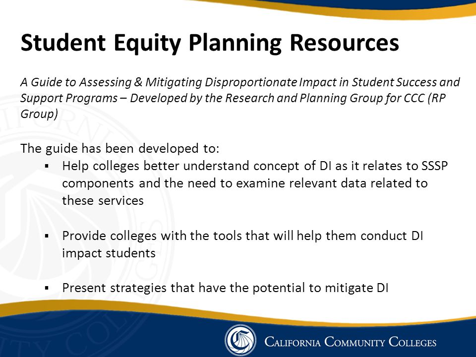 Student Equity Planning Resources