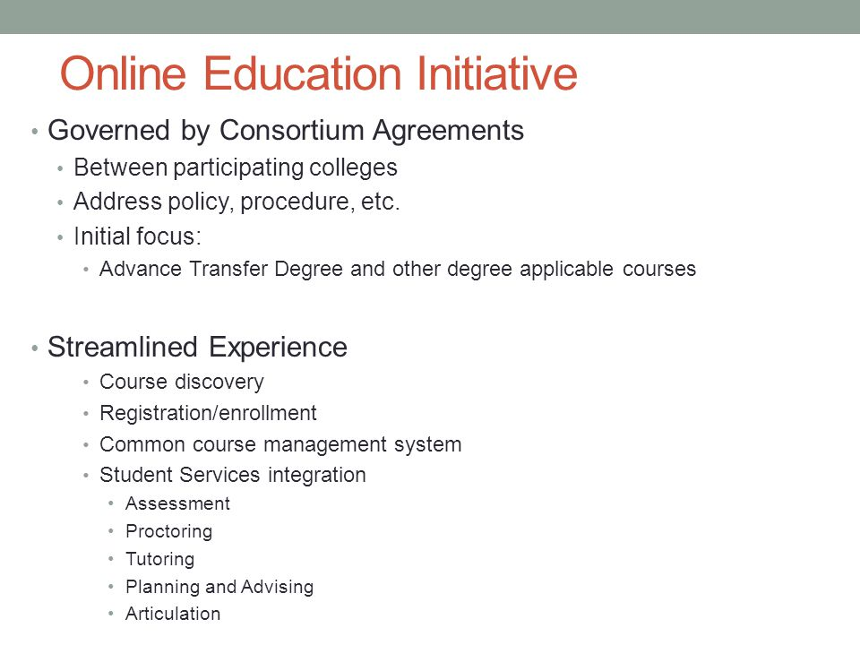 Online Education Initiative