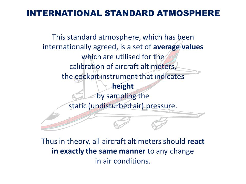 INTERNATIONAL STANDARD ATMOSPHERE