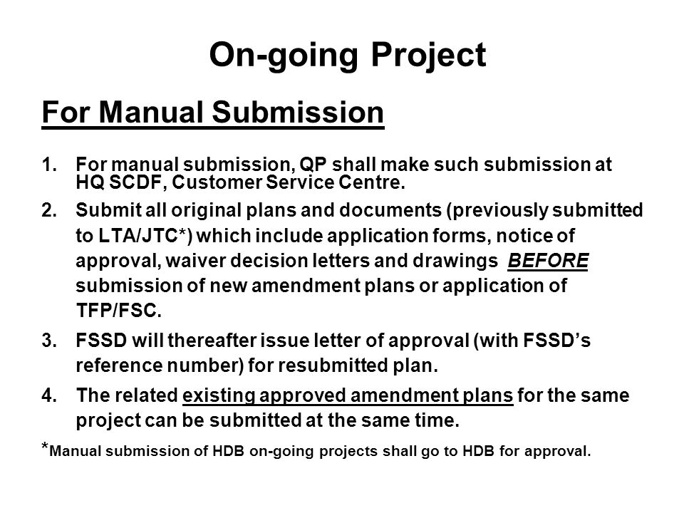On-going Project For Manual Submission