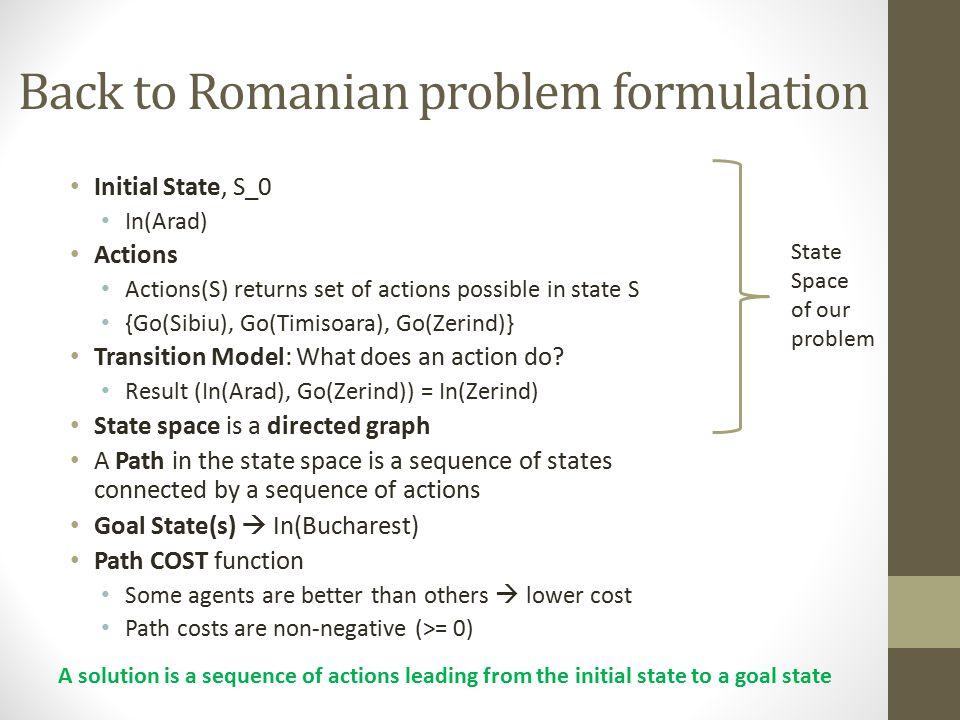 Back to Romanian problem formulation